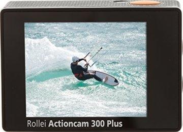 Rollei Actioncam 300 Plus - HD Video Funktion 720p, Unterwassergehäuse für bis zu 40m Wassertiefe, inkl. Schwimmgriff Bobber - schwarz -