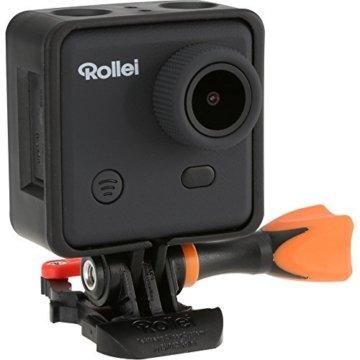 Rollei Actioncam 400 mit Handgelenk-Fernbedienung (3 Megapixel, Full HD Video, 1080p, WiFi Funktion) inkl. Unterwassergehäuse schwarz -
