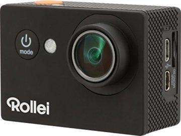 Rollei Actioncam 416 - Full HD Video Auflösung, Weitwinkel-Objektiv, bis 40m wasserfest, integriertes WiFi, inkl. Unterwasserschutzgehäuse - schwarz -