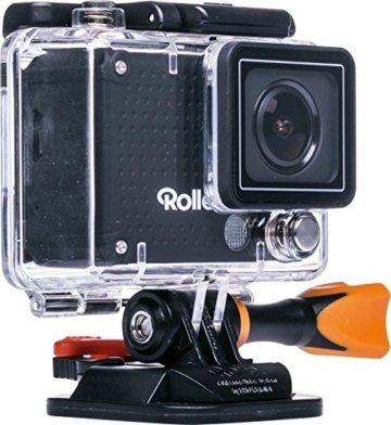 Rollei Actioncam 420 - 12 Megapixel WiFi Actioncam-Camcorder mit 4K/2K Videoauflösung sowie Full HD Videofunktion schwarz -
