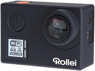 Rollei Actioncam 530 - WiFi Action Cam (Actionkamera) mit 4k Video Auflösung, Weitwinkelobjektiv, Bildstabilisierung, bis 40 m wasserfest, inkl. Unterwasserschutzgehäuse und Fernbedienung - Schwarz -