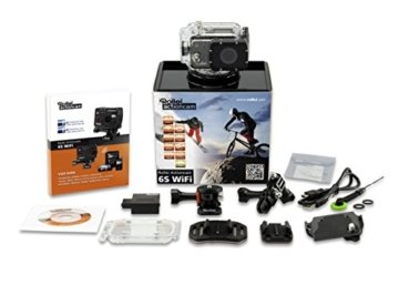 Rollei Actioncam 6S WiFi Full HD 1080p - Video Helmkamera (16 Megapixel, wasserdicht bis 100 Meter, Full HD Video-Auflösung) -