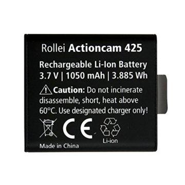 Rollei Akku AC425/426/430 - Ersatzakku für die Rollei Actioncams 425, 426 und 430 - Lithium-Ionen-Akku (3,7V / 1050 mAh) -