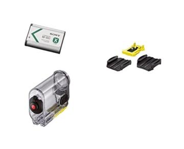 Sony HDR-AS100V Ultra-kompakter Action-Camcorder mit Profi-Features (Full HD, Ultra Weitwinkelaufnahmen, Bildstabilisator, GPS, WiFi/NFC integriert, Foto-Intervallaufnahmen), weiß -