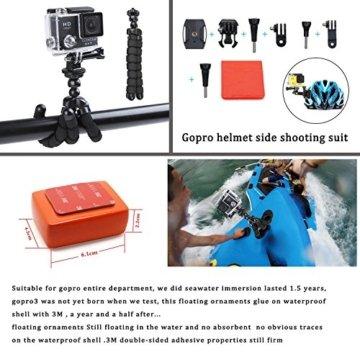 Zubehör für Gopro, ccbetter Action Kamerahalterungen für Gopro Held 4 Hero 5 Session Hero 1 2 3 3+ für die meisten Sportkameras mit Fall (Schwarz) -